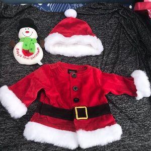 Unisex Santa outfit 0-3 months